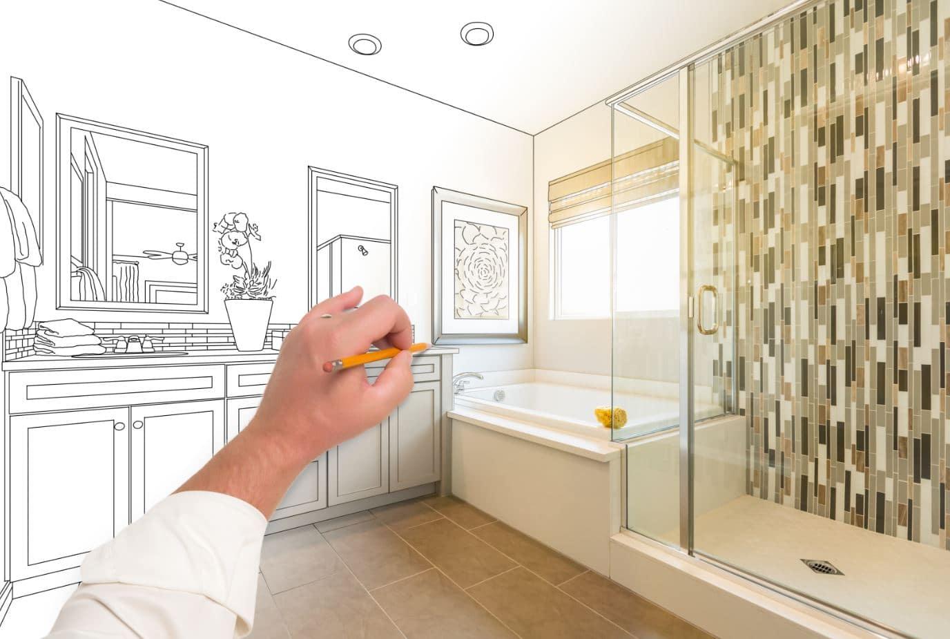 Bathroom Design getting drawn up in Sydney